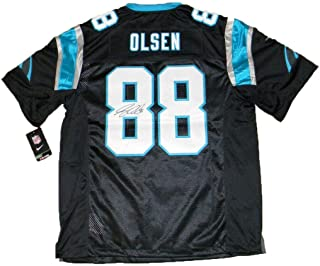 Signed Greg Olsen Jersey - 88 Black Nike Limited - JSA Certified - Autographed NFL Jerseys