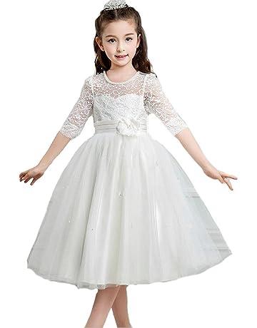 679d038341635 Honey baby 子供ドレス キッズ レースワンピース チュール 女の子ジュニアドレス 発表会 フラワーガールドレス