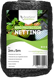 Anytime Garden 2M x 5M Heavy Duty Black Bird Netting for Tree and Plant Protection - This Can Also Be Used to Protect Your...