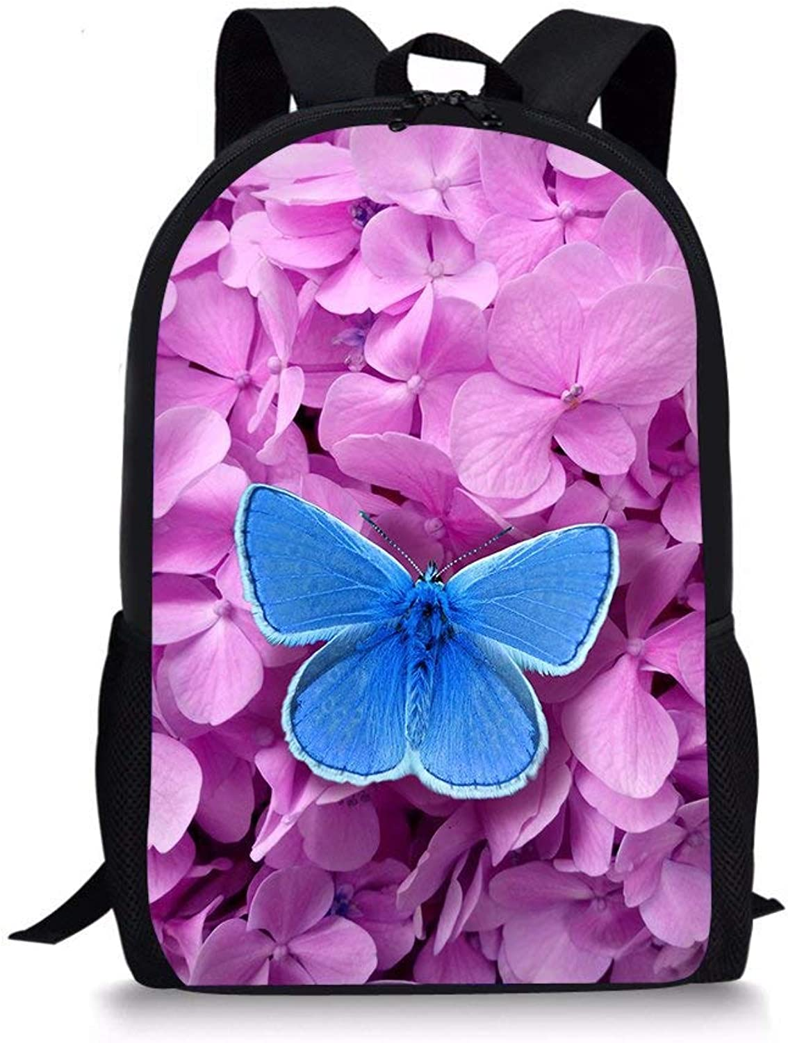 Kid Backpack Butterfly 3D Print Girls School Bag Cute Elementary Basic Backpack (color   Style 4)
