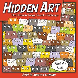 2019 Hidden Art The Ultimate Image Search Challenge! Wall Calendar