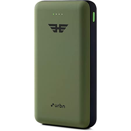 URBN 20000 mAh 22.5W Super Fast Charging Power Bank with 22.5W Type C PD (Input& Output) and QC 3.0 Dual USB Output with Free Type C Cable (Camo)