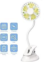 yumcute Mini Ventilateur à Pince Ventilateur USB Portable Ventilateur de Table à Clip Silencieux Ventilateurs électriques ...