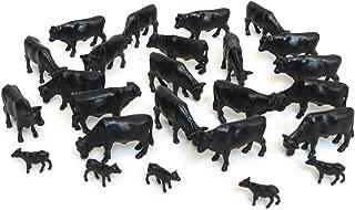 ERTL Black Angus Cows (Pkg. of 25) 1:64 Scale