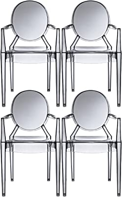 Amazon.com: 2 x Home – Conjunto de 6 Modern Ghost Silla ...