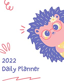 2022 Daily Planner One Page Per Day: 2022 Calender, Year at a Glance, Important Notes, Contact List, (6 x 9 Inch, 375 Page...