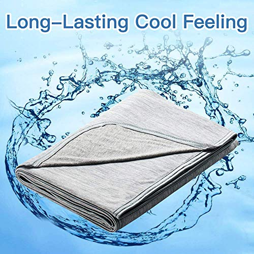 Marchpower Cooling Blanket, Latest Cool-to-Touch Technology, Lightweight Cool Blanket for Sleeping Night Sweats, Breathable Summer Cool Blanket for Couch Sofa Bed (Gray, Full, 78' X 86')