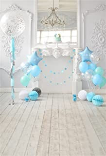 LFEEY 5x7ft Girl Boy Photo Backdrop for Birthday Party Balloons Room Interior Kids Happy 1st Birthday Photo Booth Cake Smash Backgrounds for Photography Photo Studio Props