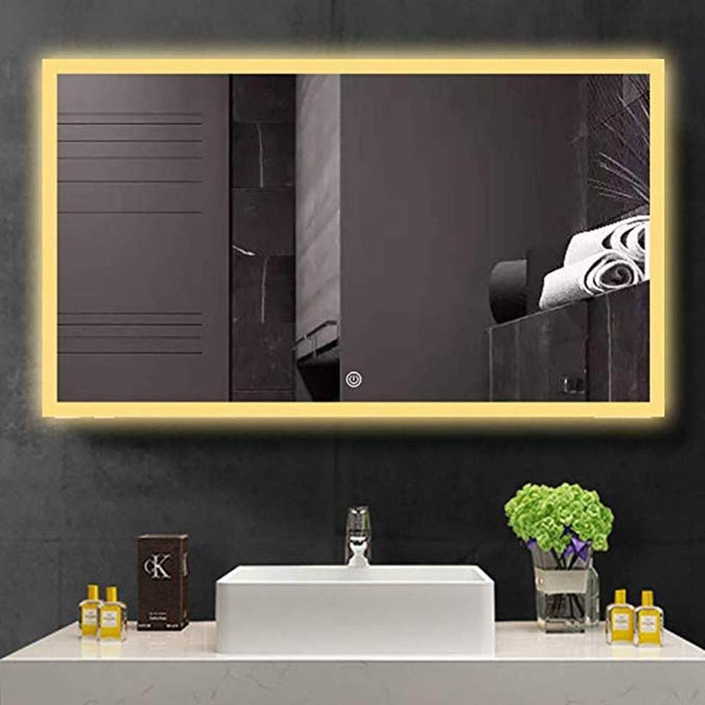 LRUIJIE-Mirror Espejo de baño con luz LED, a Prueba de explosiones ...