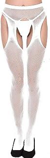MVPKK, Medias Opacas con Estampado Pantys Lencería Sexy Mujer Pantimedias Semi Medias Calcetines de Rejilla para Mujer Fishnet Tights Negras Dibujos Florales Rayas Corazones Costura Pantimedias