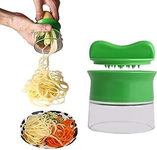 ZJZ Trancheuse à Spirale de légumes à la Main, poignées Coupe-Spirale de légumes, Machine à Spaghetti de pâtes aux courget...