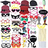 Lictin 86pcs Fotorequisiten Fotoaccessoires Photo Booth Requisiten Foto Props Dekorationen...