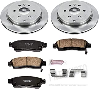 Max Brakes Front Performance Brake Kit 2007-2010 Saturn Outlook Premium Slotted Drilled Rotors + Ceramic Pads KT069231 Fits: 2009-2016 Buick Enclave Chevy Traverse GMC Acadia