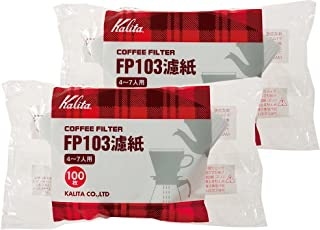 White 2 bag set # 15085 [4-7] people for 100 pieces Kalita filter paper coffee filter FP103 (japan import)