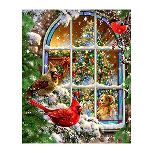 DIY 5D Diamond Painting Kit Full Drill Christmas Tree Pictures for Adults Child Crystals Rhinestone Stitch Embroidery Cross Craft Gift Canvas Home Decor Gift60x80cm(24x32in)