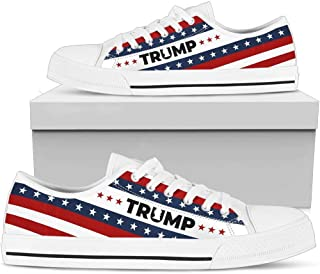 Trump USA Women's Low Top Shoes Gift Idea for Female Trump Supporter
