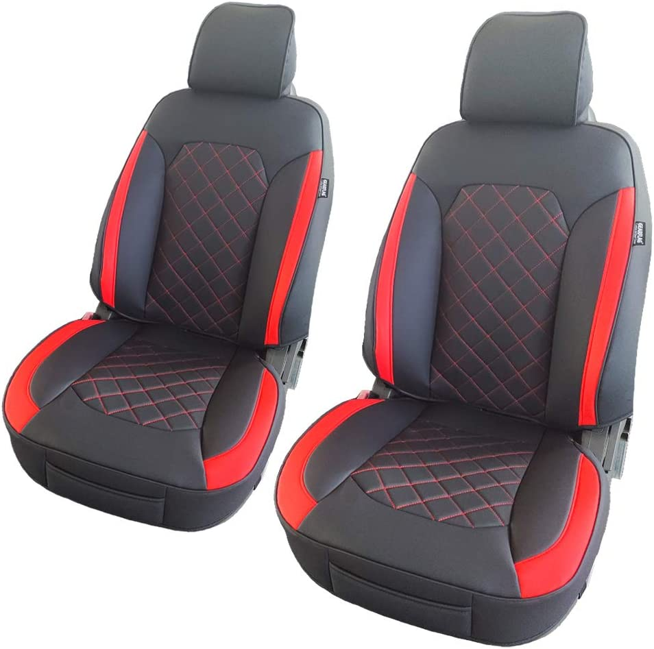 RED ELEGANT FRONT LOWBACK SEAT COVERS SET FOR OPTIMA RIO