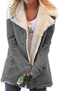 Howely Women Puffer Coat Fleece Lined Winter Coat Outwear Quilted Jacket
