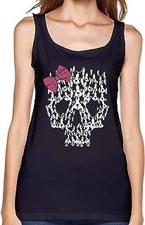 Boston Terrier Sugar Skull Women's Vest Comfort Summer Sleeveless T-Shirts for Women