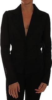 Dolce & Gabbana Black Nylon Net Blazer Jacket