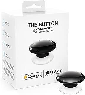 Fibaro FIBBUT-BK FIBFGBHPB101B Apple HomeKit-Enabled Button Multicontroller (Black), 1.34 inches