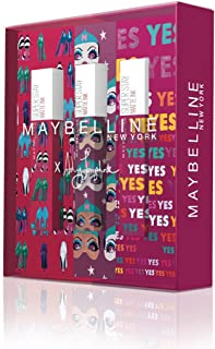 Maybelline New York - Cofre de 3 Pintalabios Superstay Matte Ink, Edición Limitada Ashley Longshore, Incluye los Tonos 20 ...