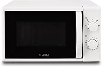 Flama 1824FL Encimera 20L 700W Color blanco - Microondas (Encimera, 20 L, 700 W, Giratorio, Color blanco, Izquierda)