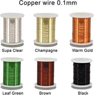 Riverruns 6 Color/Set Non-tarnishing Ultra Copper Wire 0.1mm, 0.2mm Super Realistic Fly Tying Material Proudly from Europe Great Choices for Larve Nymph, Streamer
