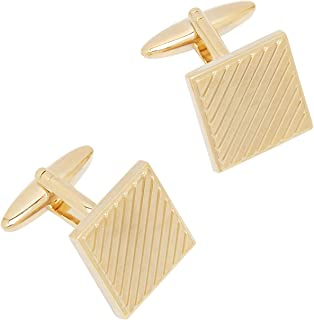 Cufflinks for Men, Gold Coloured Plated Designer party wear Cufflinks for Men, Wedding Gift Set