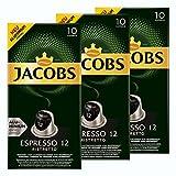 Jacobs Espresso 12Ristretto, Cápsulas de Café, Compatible con Nespresso, Café, 30Cápsulas, Á 5.2g