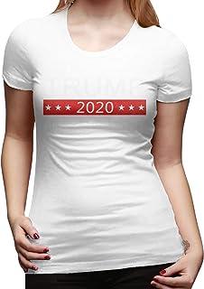 Mary West Trump 2020 Camiseta de Manga Corta de Corte clásico para Mujer Camisetas de Manga Corta Camiseta con Cuello Redo...