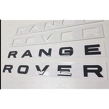 SUKRAGRAHA Replacement Hood Tailgate 3D Decal Letter Stickers Badge Emblem For Range Rover Sport Evoque 10-Letter Set Silver