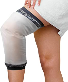 Knee Cast Shower Cover Adult Knee Cast Protecor for Shower, Waterproof Seal Tight Cast Shower Bag for Leg Cast, Knee Replacement Surgery and Wound (15.7*12)