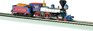 Bachmann Industries 4-4-0 American Steam DCC Ready Central Pacific #60 Jupiter Wood Load Locomotive (HO Scale)