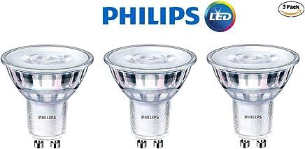 Philips 465104 LED GU10 Dimmable 35-Degree Spot Light Bulb: 400-Lumen,