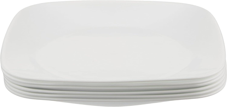 Corelle Square Pure White 20 Inch Plate Set 20 Piece