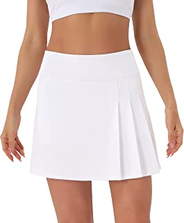 Sponsored Ad - Persit Women's High Waisted Pleated Tennis Skirts Golf Running Workout Athletic Skorts with Pockets and Shorts
