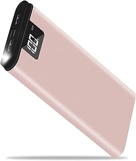 モバイルバッテリー 大容量 24000mah PSE認証 2.1A出力急速携帯充電器 2入力(iPhone+Android) LCD残量表示 同時充電可能 LEDライト付き モバイル充電器 緊急時の必携品 iPhone/Android/iPadなど対応