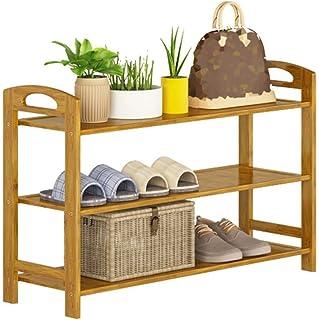 Range-chaussures Rangement pour chaussures 3 niveaux en bambou Hauteur totale 51cm Range-chaussures Rangement pour organis...