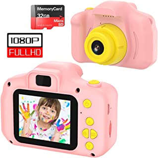 VATENIC Kids Toys for 3-10 Year Old Girls, Kids Camera 1080P 2inch HD Children Digital Cameras for Girls Best Birthday Toys,Toddler Camera Gift for 3-9 Year Old Girl Pink (with 32G SD Card) (Pink)