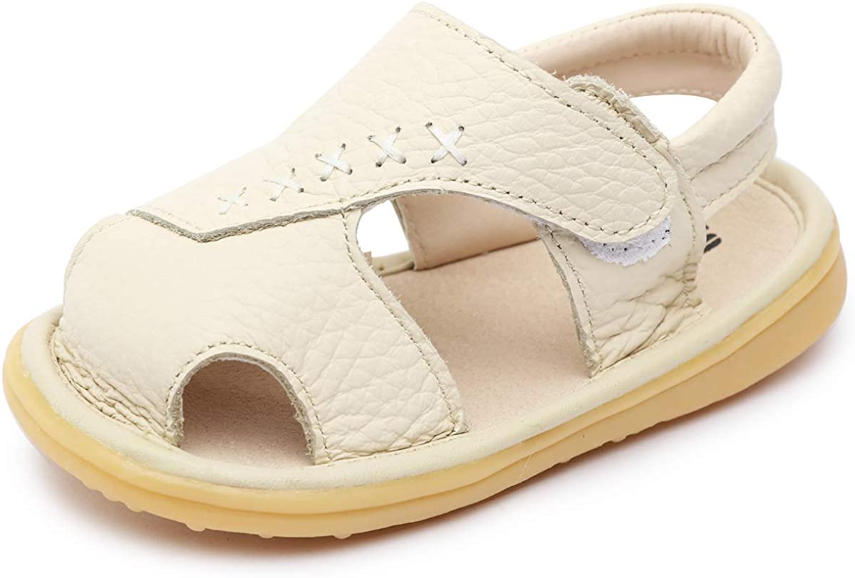 Ranking TOP20 Minibella Toddler Boy Girl Summer Closed-Toe San Super sale Leather Outdoor