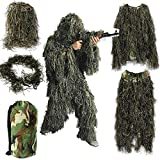 Youmay Ghillie Suit, Hunting Camo Clothes Sniper Ghillie Suit Camouflage Suit Woodland 3D Leaf Costume
