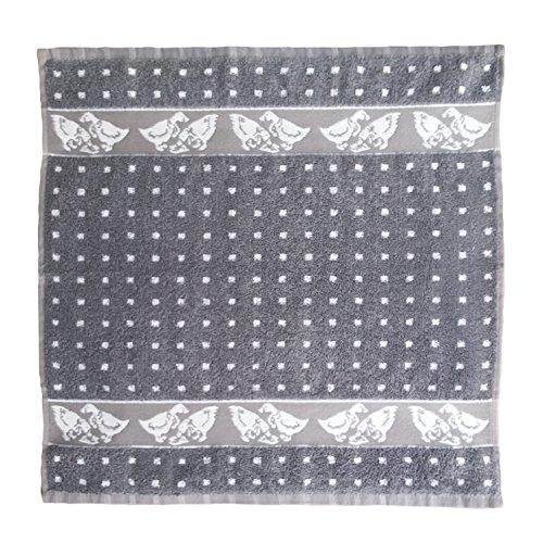 Ross Küchenhandtuch Zwirn Frottier 50x50 cm in grau