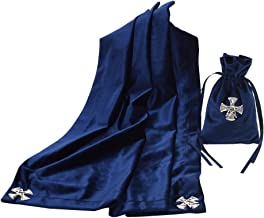 BLESSUME Altar Tarot Card Table Cloth with Tarot Bag Divination Wicca Velvet