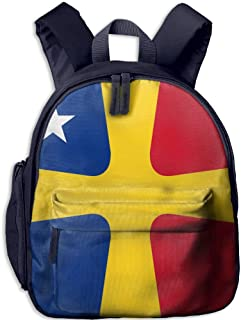 Pinta Romanian Flag Cub Cool School Book Bag Backpacks for Girl's Boy's