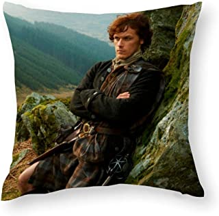 VinMea Decorative Throw Pillow Covers Reclining Jamie Fraser Photograph Decorative Throw Pillow Case Cushion Cover Cotton ...
