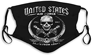 GIRDEAR Mouth Shield Face Cover Reusable Outdoor Covers Veteran United States air Force Skiing Cover