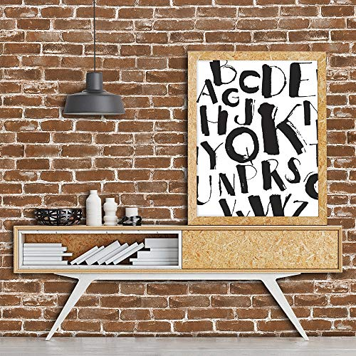 Okydoky 3D Vintage Textured Brown Brick Wallpaper, Livingroom Bedroom Kitchen Background No.57103