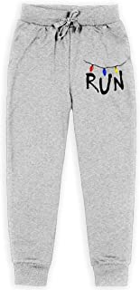 Nm78kL&KU Men Athletic Sweatpant, 100% Cotton Stranger Things Will Run Running Pants for Youth