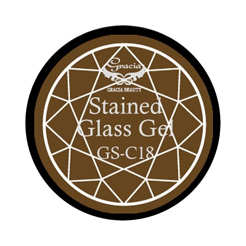 ピアノを弾く後方アルファベット順グラシア ジェルネイル ステンドグラスジェル GSM-C18 3g  クリア UV/LED対応 カラージェル ソークオフジェル ガラスのような透明感